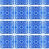 Blue Doodle Tile