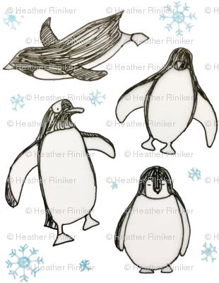 Happy Penguins (white)