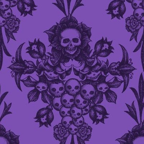 2018 Skull Damask-purple