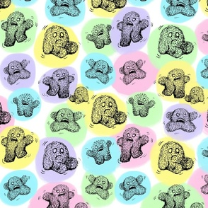 Monster Pattern Colored