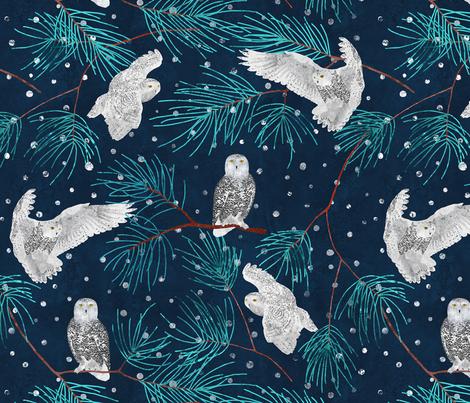 Snow hunting fabric by lavish_season on Spoonflower - custom fabric
