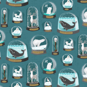 climate change snowglobes