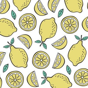 Lemon Citrus on White