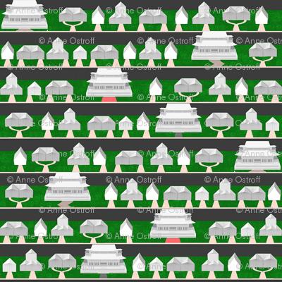 Origami Neighborhood (with McMansions)