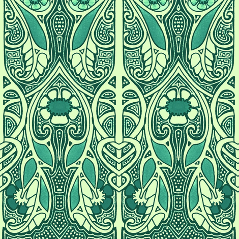 Celtic Knot In My Back Yard Fabric Edsel2084 Spoonflower