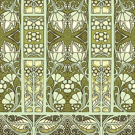 Beyond the Green Gate fabric by edsel2084 on Spoonflower - custom fabric