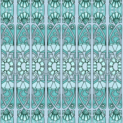 1911 Awaits Behind the Gate fabric by edsel2084 on Spoonflower - custom fabric