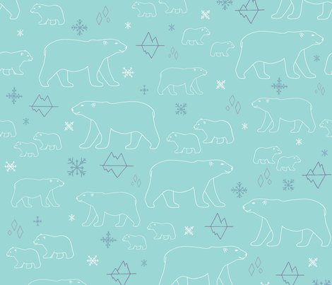 Pola pola bears fabric by jeahdesign on Spoonflower - custom fabric