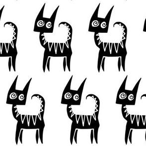 Hypno Cat black and white
