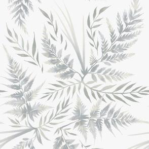 Fern Leaves - White
