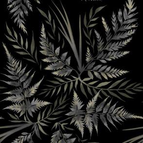Fern Leaves - Black