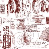 Da Vinci's Sketch Book // Red Ink