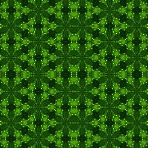 Kelly Green Geometric Pattern 1