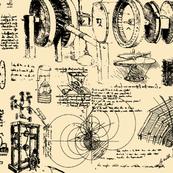 Da Vinci's Sketch Book // Tan