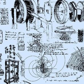 Da Vinci's Sketchbook // Light Blue // Small