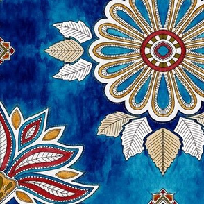 Moroccan Floral - sapphire