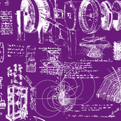 Da Vinci's Sketch Book // Purple