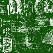 Da Vinci's Sketch Book // Green