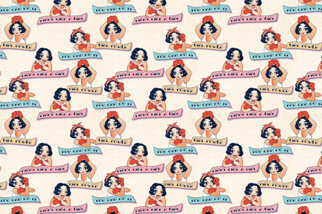 Fight Like A Girl - Boxing Tattoo challenge by Mount Vic and Me fabric by mountvicandme on Spoonflower - custom fabric
