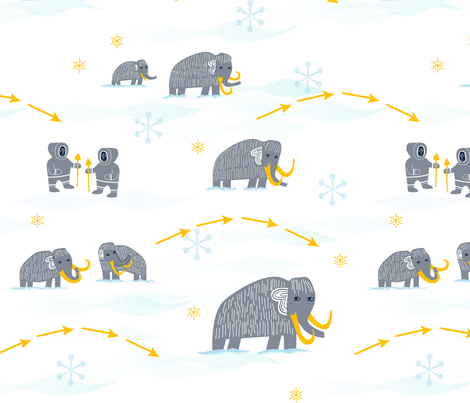 Wooly Mammoth fabric by chris_jorge on Spoonflower - custom fabric