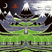 """The Hobbit Landscape (54""""W)"""