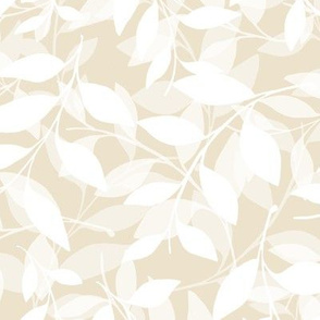 Transparent Leaf scatter - white