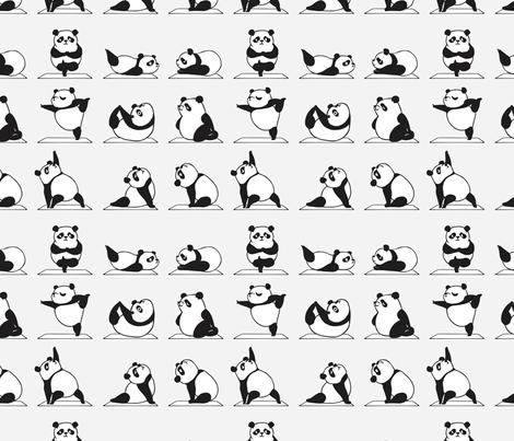 Panda Yoga wallpaper - huebucket - Spoonflower