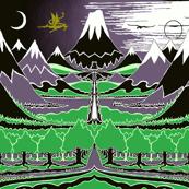 """The Hobbit Landscape (54""""W) // Dark Version"""