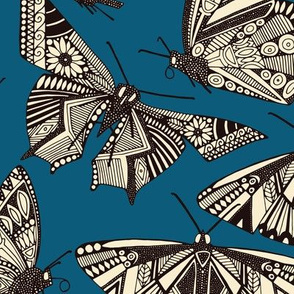 summer butterflies blue
