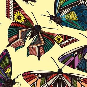 summer butterflies multi lemon