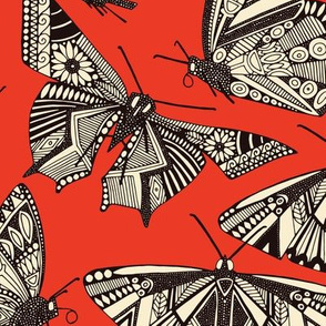 summer butterflies fire