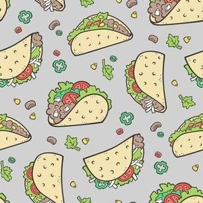 Tacos Food on Light Grey