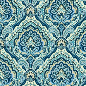 Paisley Damask Teal