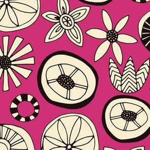 summer flowers pink
