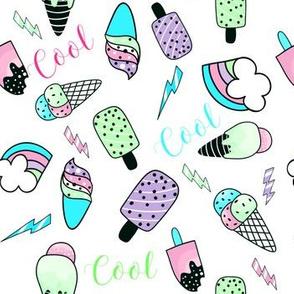 """7"""" Summer Cool / Aqua & Lilac"""