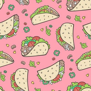 Tacos Food on Pink