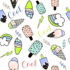 """7"""" Summer Cool Bright Green & Peach"""