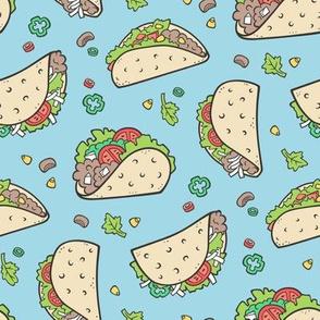 Tacos Food on Light Blue