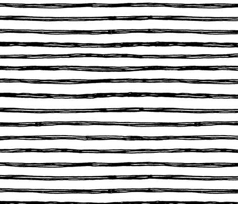 Black Striped Doodles - Hand Drawn Stripes Geometric Inky Monochrome Black and White Baby Nursery Kids Children fabric by gingerlous on Spoonflower - custom fabric