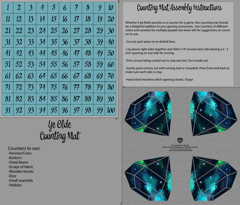 Counting Mat_Teal Crystals-01 fabric by kfrogb on Spoonflower - custom fabric