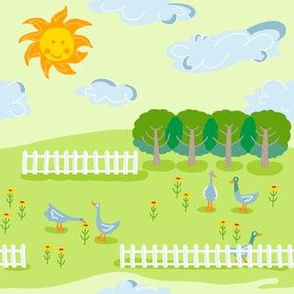 farm scene_ducky