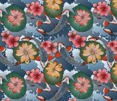 JAPANESE TATTOOS fabric by yasminah_combary on Spoonflower - custom fabric