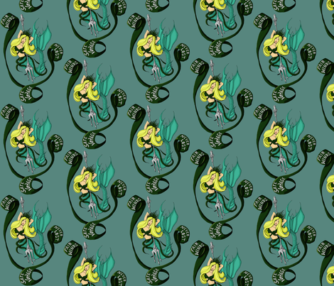 Sailors Mermaid fabric by smart_cats on Spoonflower - custom fabric