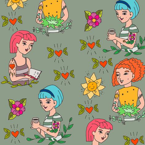 girls of 17 fabric by potyautas on Spoonflower - custom fabric