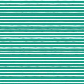 summer stripe teal white