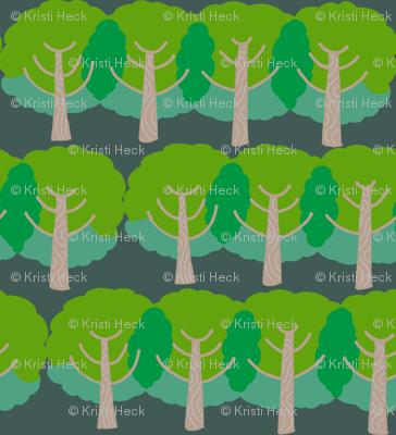 farm trees_summer green night