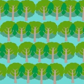 farm trees_summer green bright sky