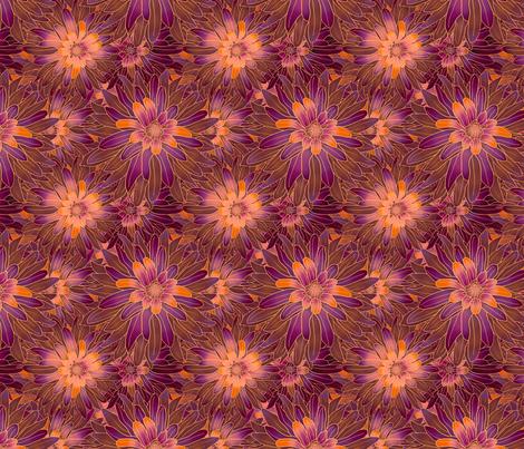 Floral Sunset fabric by mammajamma on Spoonflower - custom fabric