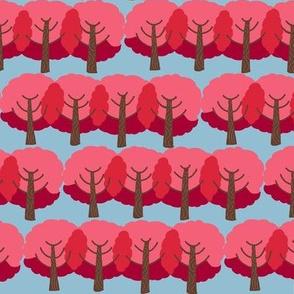 farm trees fall_red leaves