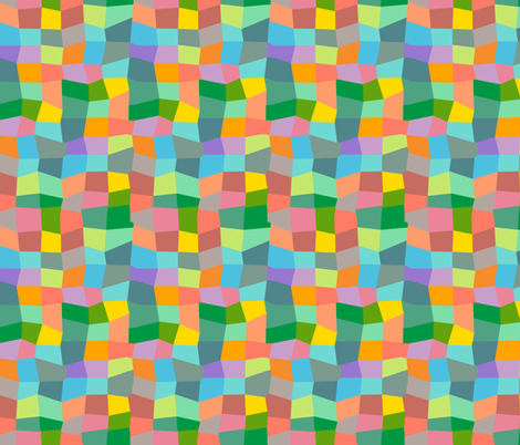 wonky checkers fabric by kheckart on Spoonflower - custom fabric